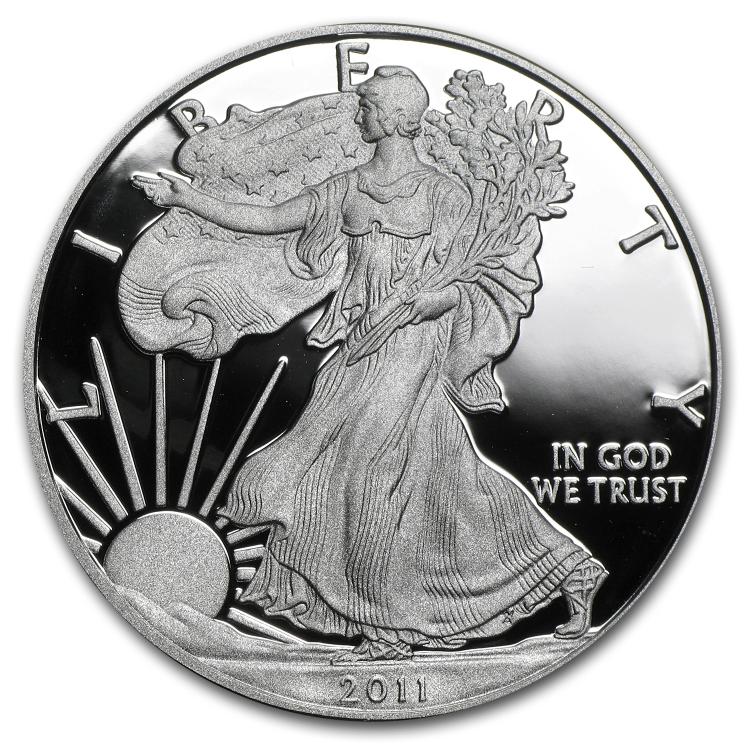 2011-W 1 oz Proof Silver American Eagle (w/Box & CoA)